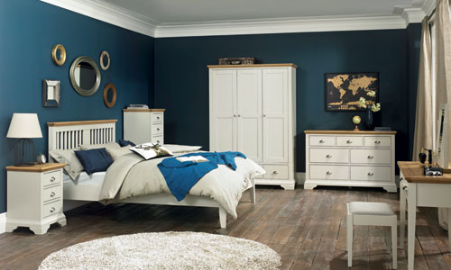 Bentley Designs Hampstead Soft Grey Light Oak Bedroom Furniture - Light oak bedroom furniture sale