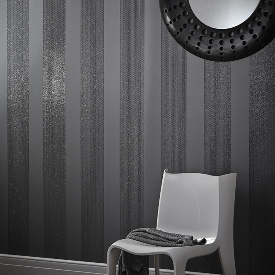 Arthouse 673501 Selina Stripe Gunmetal Wallpapers For Sale