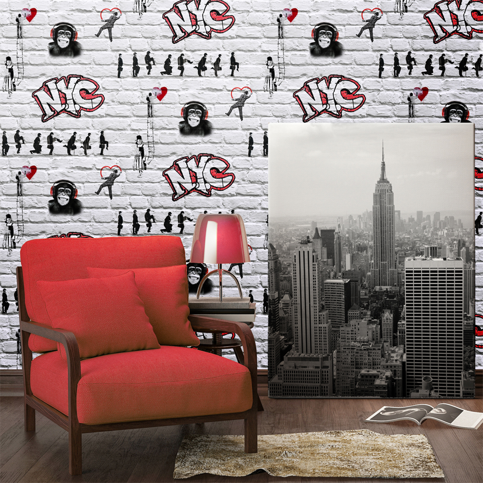 Muriva 102562 Street Art Wallpapers For Sale Ramsdens Home Interiors