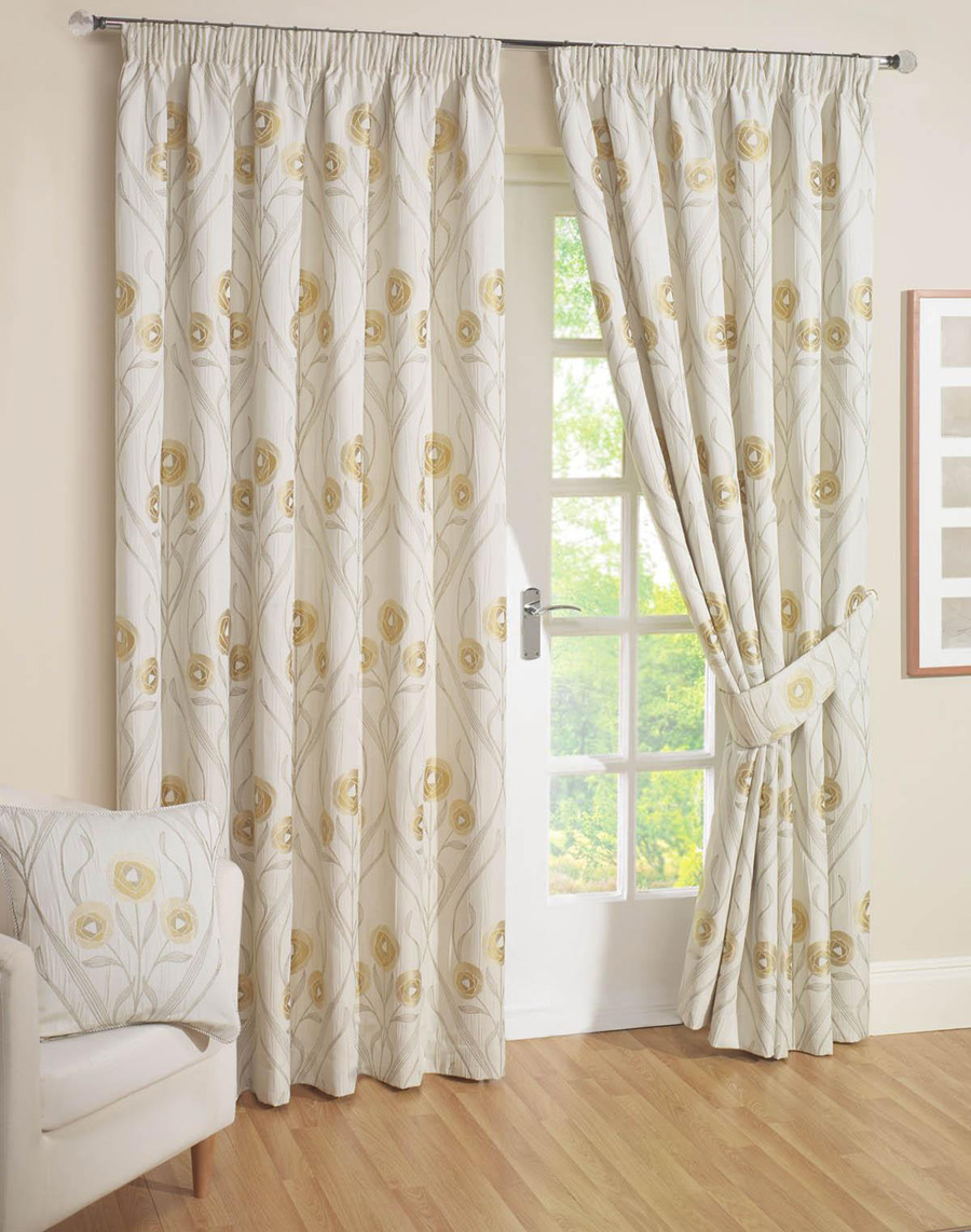 Montrose Cream Ready Made Curtain Curtains Blinds