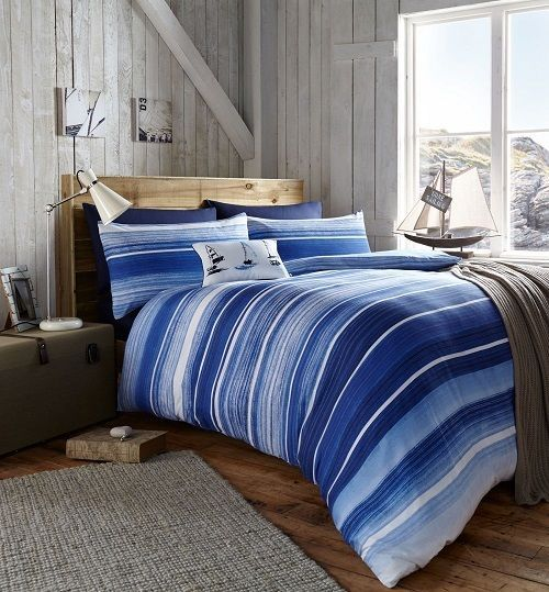 coastal stripe bed linens for sale ramsdens home interiors