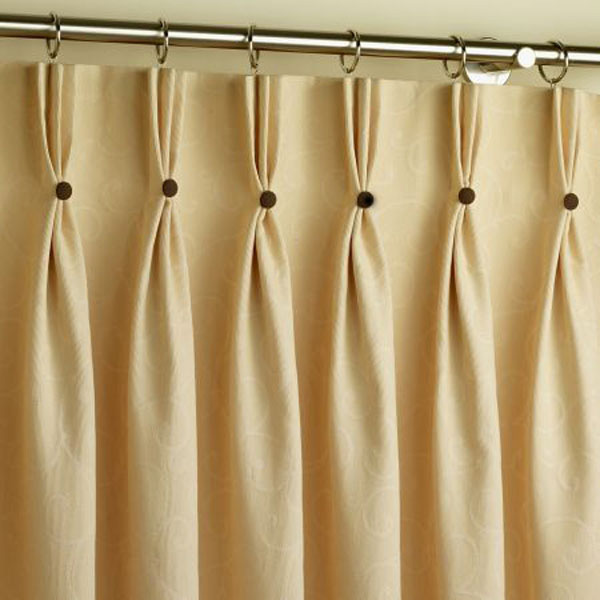 Pinch Pleat Curtains With Buttons 2 Made To Measure