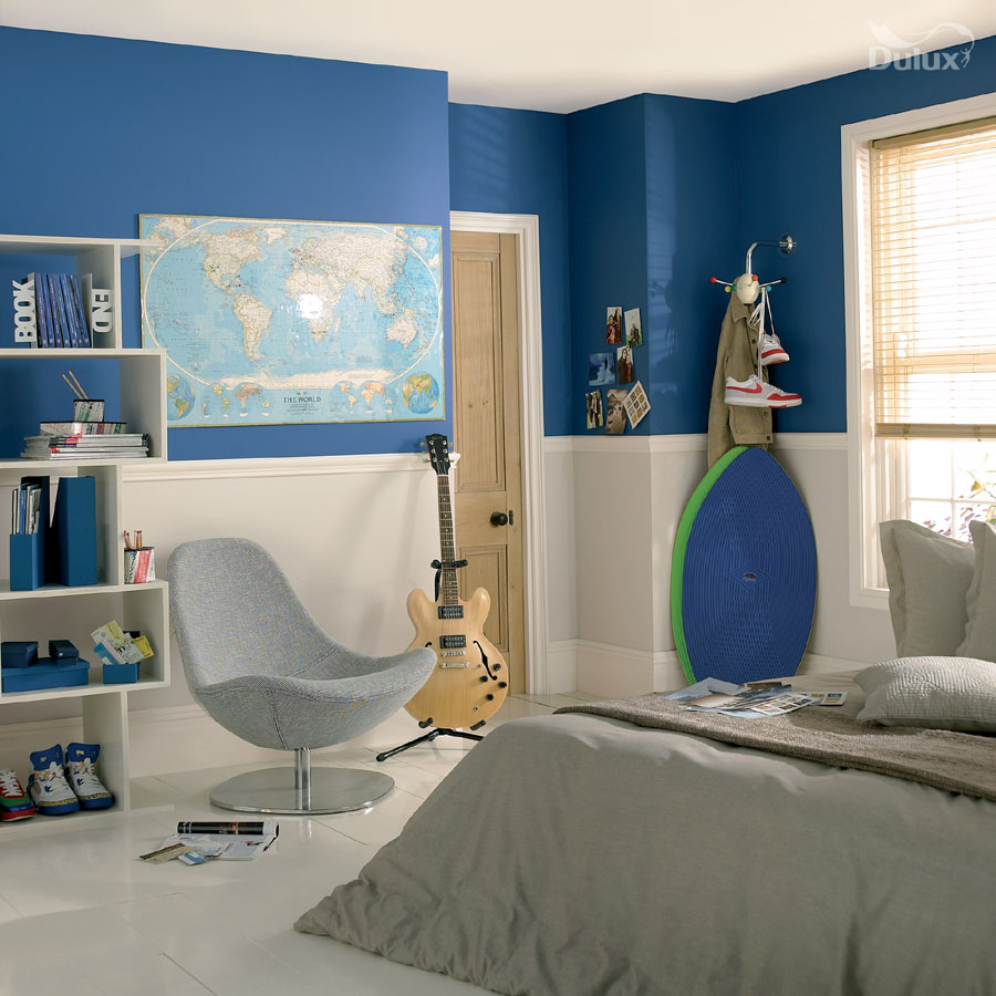 Bedroom Lost Lake Egyptian Cotton Natural Calico Dulux