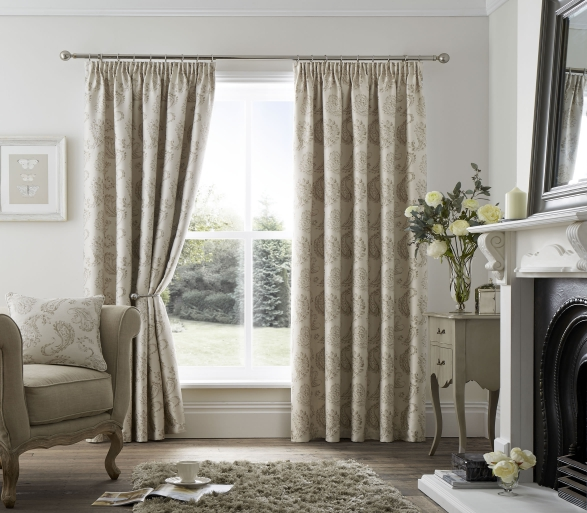 Ashford Natural Ready Made Curtain Ready Made Curtains For