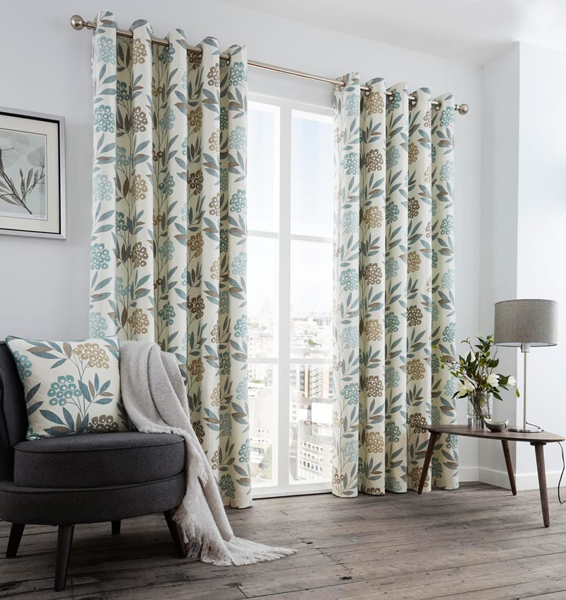 Karsten Teal Ready Made Curtain Ready Made Curtains For