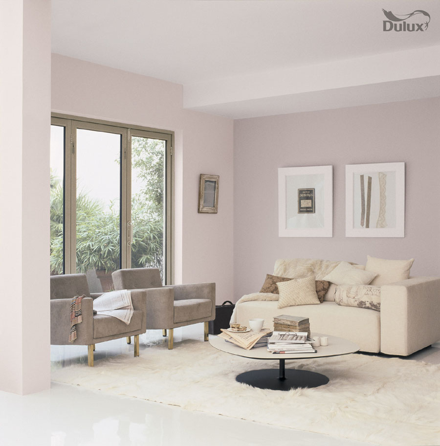 Living room perfectly taupe mellow mocha dulux emulsion for Soft mocha paint color