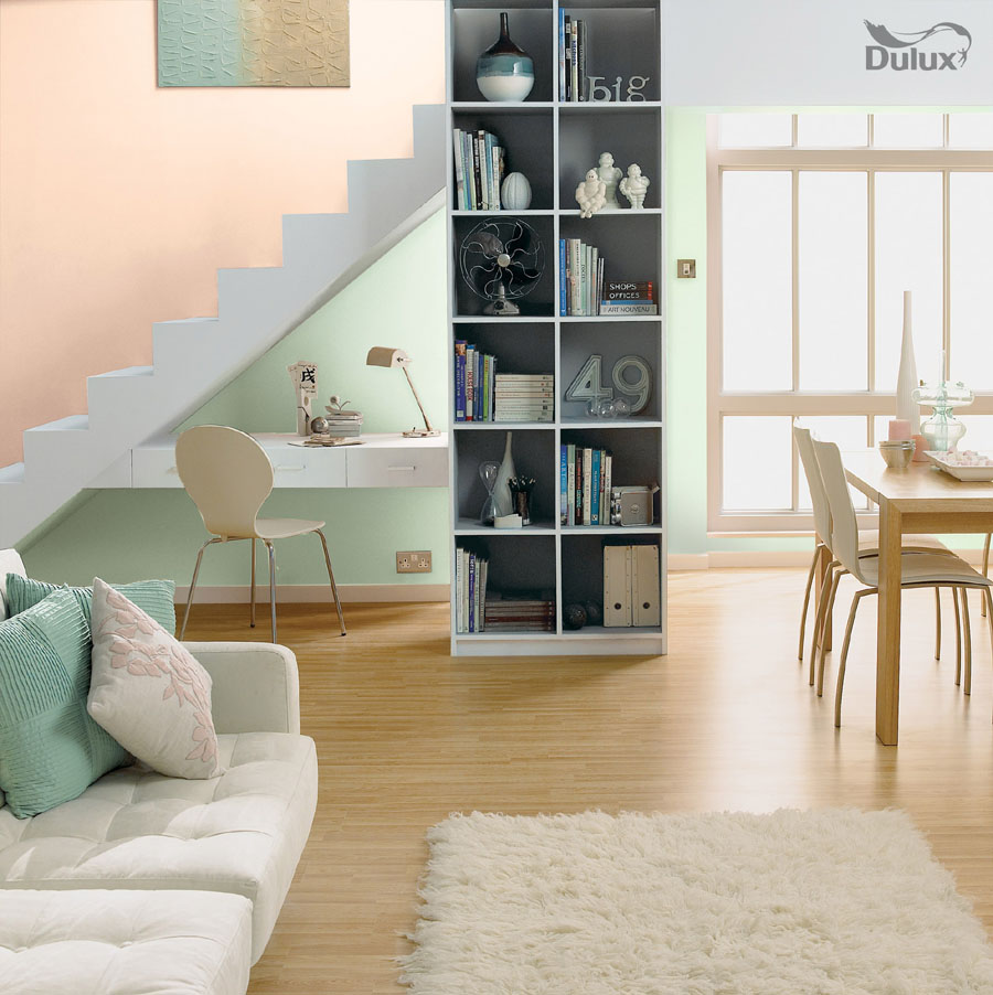 Living Room Soft Coral Nordic Spa Dulux Emulsion Colours