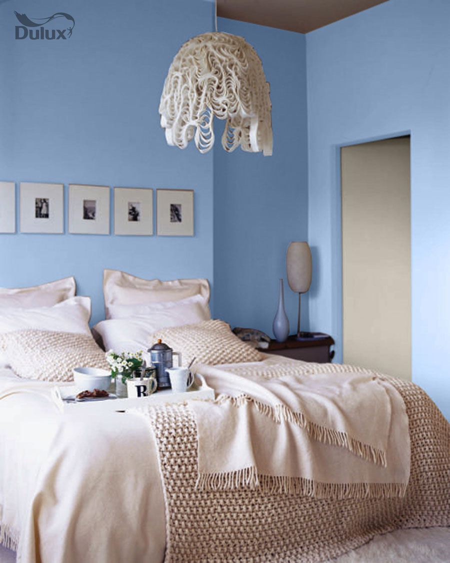 Bedroom Blissful Blue Dulux Emulsion Colours For Sale
